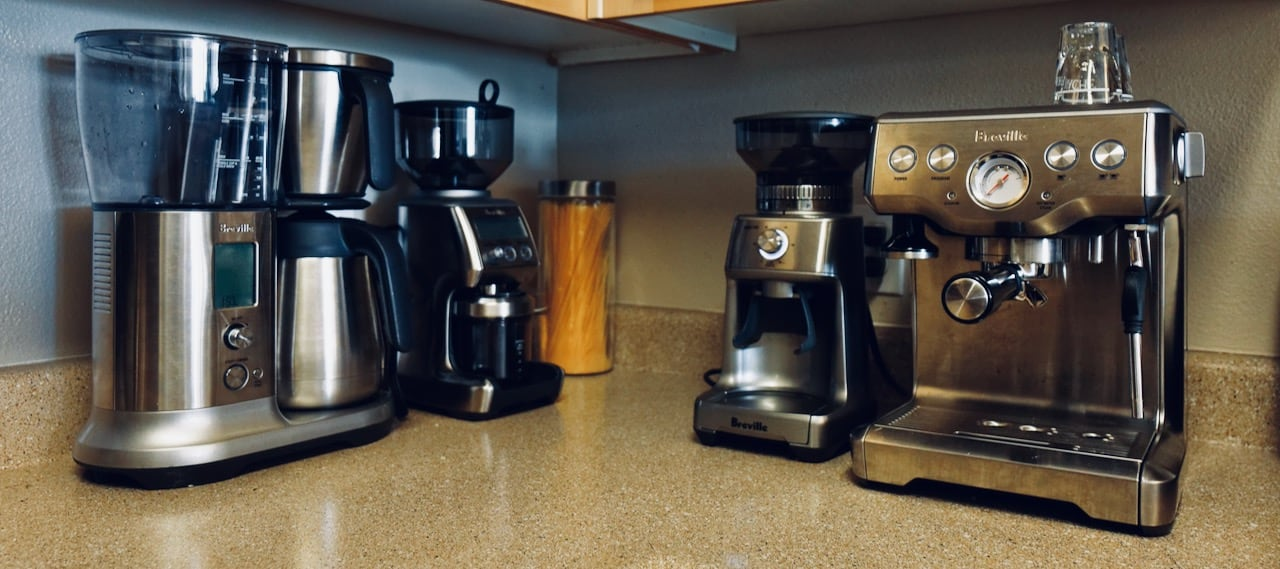 Peter's at-home coffee setup